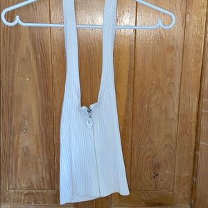 Guess halter neck white top